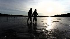Skating in the sun/Skriskotur i solen [Explored 170213] (annesjoberg) Tags: filter alfresco fs170212 photosunday fotosondag sunlight iceskating skating ice winter grisslinge fotosöndag