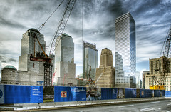 Rebuilding Lower Manhattan (Tony Shi Photos) Tags: nyc manhattan worldtradecenter wtc constructionsite groundzero hdr worldfinancialcenter twintower 7worldtradecenter   911attack takingforever     thnhphnewyork  tonyshi