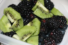 snack (jenly) Tags: fruit kiwi fruitsalad blackberries blueberries