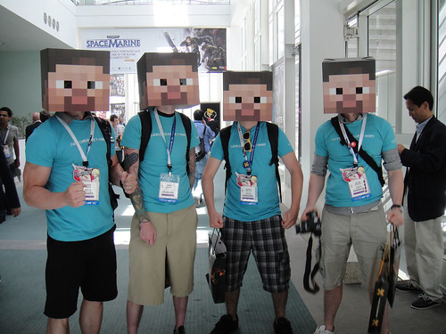 E3 2011 - box-headed Minecraft men by Pop Culture Geek, on Flickr