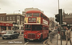 Routemaster RML2383 at Kings Cross, London, July 1983 (Lady Wulfrun) Tags: park st 2000 cross royal rover kings routemaster 1983 pancras p6 rm jjd aec rml