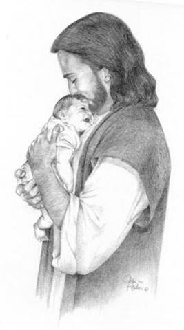 Jesus Holding a baby ...- Wonder Who by C & M D.
