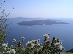 Santorini volcano view (Dave ***) Tags: blue nature dave landscape volcano view santorini greece traveling