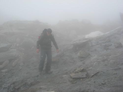 Attraverso il piccolo ghiacciaio