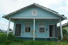 NO GAS - Blue (Jane Whitworth) Tags: neworleans nola rebuilding ninthward