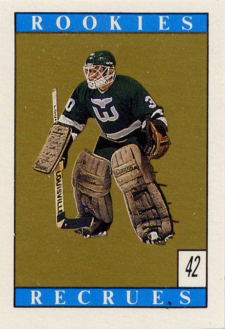 Peter Sidorkiewicz, Hartford Whalers, NHL, hockey card, o pee chee, sticker, 88-89