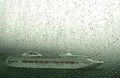 (Decrepit Telephone) Tags: rain alaska boat ship bokeh gray ak juneau cruiseship raindrops sunprincess thebigtriptm
