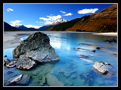 :: Paradise :: (anthonyko) Tags: longexposure blue newzealand rocks paradise queenstown soe glenorchy dartriver justlikeheaven sonyr1 50faves nothdr 25faves abigfave anawesomeshot diamondclassphotographer overtheexcellence everywherewalks theperfectphotographer