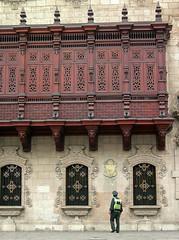 Balconies (dachalan) Tags: peru southamerica lima balcony unescoworldheritagesite unesco worldheritagesite plazadearmas palacioarzobispal nikoncoolpixp1 dachalan photofaceoffwinner pfosilver