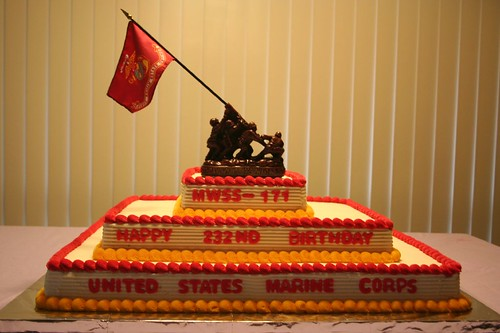 Pleasant Marine Corps Birthday Cake A Photo On Flickriver Funny Birthday Cards Online Elaedamsfinfo