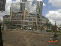 On the way from the Nairobi airport into town