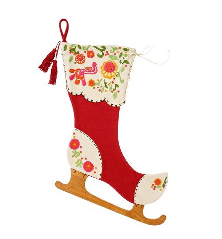 Anthropologie.com > Ice Skate Stocking