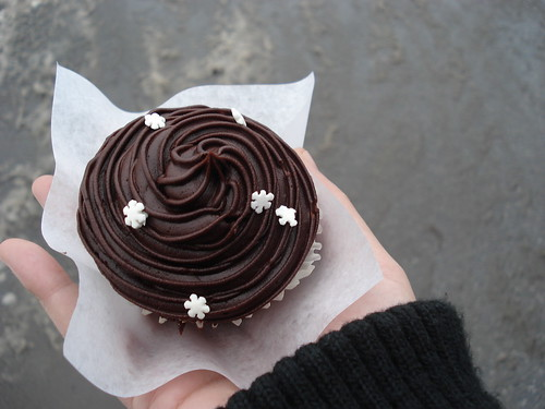 Pre-Christmas cupcake