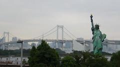 Taking Liberties (squaylor) Tags: statue japan liberty tokyo odaiba statueofliberty rainbowbridge odaibaisland