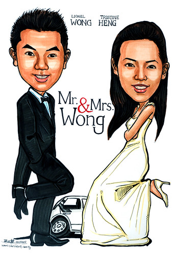 Caricatures Mr & Mrs Wong Suzuki Sports