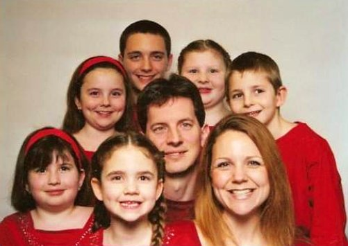 The Griffin family of Parkville, MD: Danny Griffin, Jr., Bethany Griffin, Jordan Griffin, Lacie Burkman, Haley Burkman, Vadie Griffin, Sidney Griffin, and Beau Burkman