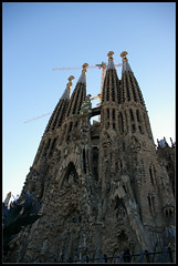 Sagrada Familia - Barcelona (brunombo) Tags: barcelona travel vacation tourism church spain construction towers modernism chiesa gaudi works catalunya sagradafamilia costruzione turismo lavori viaggio modernismo vacanza barcellona torri holyday festivit smcpda1855mmf3556al justpentax