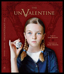 "The UnValentine : ""Think of a day that describes Valentine's day and rhymes with cupid."" (Jesse Draper) Tags: pink red holiday love jesse painting paper book day candy sam heart flag gothic paintings victorian icon valentine cover gift stupid valentines bookcover cupid shape sour storybook childrensbook somber idiots valentinesday pudgy crumpled draper stupids beeson giftbook unvalentine gasped"