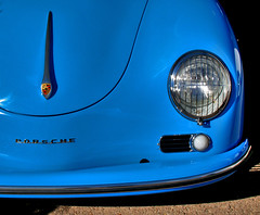 The Blue Danube (oybay) Tags: blue arizona car classiccar automobile mesh bumper porsche scottsdale headlamp 356 barrettjackson theperfectphotographer