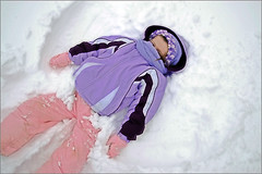 Snow Angel!!! (Buzz Click Photography) Tags: family winter girls snow cold nicole newyear spike natalie blizzard newyearsday radiospike january08