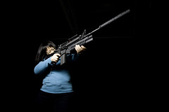 """Big Guns"" Susan (ttstam) Tags: video final guns m4 mse airsoft m203 socom silencer seattleflickrmeetup strobist terencetam ttstam chasejarvishangar1 tcubephotography mm594058 mrris"