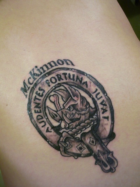 My family crest, I got it tattooed last night, its pretty big,
