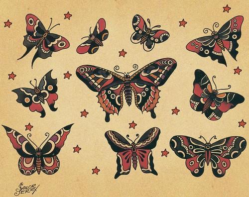 sailor jerry tattoos. Sailor Jerry butterflies