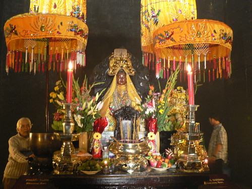 Altar and devotees