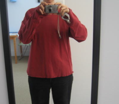 Red long sleeve tee recon (before)