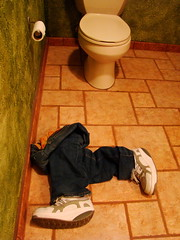 g o t    t o    r u n (mckenzieo) Tags: orange bathroom shoes funny personal accident tissue cancer toilet restroom bluejeans emergency mbt commode tilefloor diarrhea guestbath rectal touristas montezumasrevenge theruns suddenstop superbmasterpiece oxaliplatin masaibarefoottechnology size5jeans chemotherapysideeffect platinumcompound