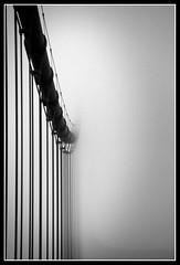 Heavens Harp (tristanrayner.com) Tags: bridge white abstract black fog lost golden support gate san francisco heaven fade harp disappear