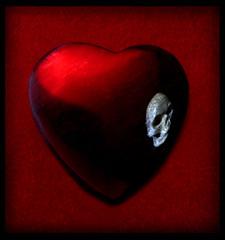 Pirate's Heart (Bruce Dean) Tags: reflection stone happy skull day heart reflect valentines brucedean professionalrecreationalist hankwilliams lapis norahjones elvispresley happyvalentinesday bluelapis markchesnutt coldcoldheart toocoldathome