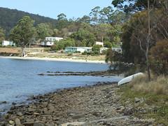White Beach (16) (Lewis van Bommel - van Bommel Photography) Tags: ocean sea white beach landscape bay boat sand rocks australia tasmania van dingy foreshore bommel