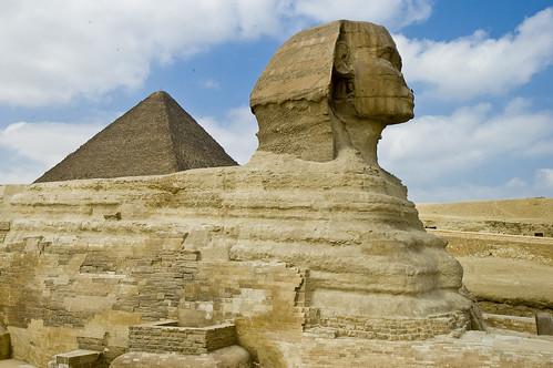 הספינקס והפירמידה הגדולה בגיזה, קהיר, מצרים