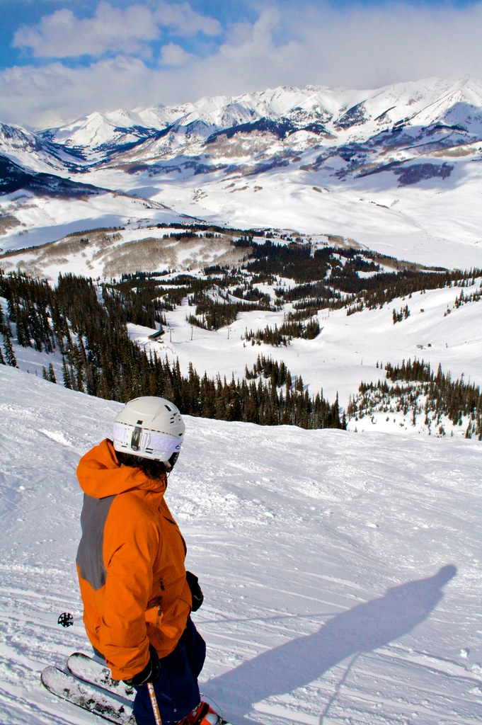 Top of The Headwall at Crested Butte, CO