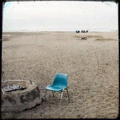 .outcast. (Dawn B (Elfini)) Tags: ocean morning blue santacruz texture beach square chair firepit 500x500 twinlakesstatebeach nesster bcommeberenice steffanj