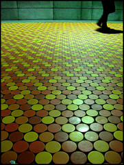 Station Lionel-Groulx ( CHRISTIAN ) Tags: orange brown motif station yellow architecture jaune underground subway pattern floor montral montreal mtro explore brun plancher lionelgroulx gwim bestofr photoquebec