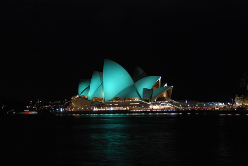 Opera House just after Earth Hour