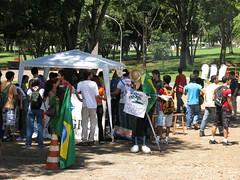 A praça de alimentação montada pelo C.A. de Agronomia