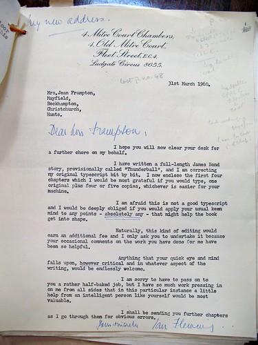 James Bond letter