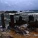 rock pillars in the sea