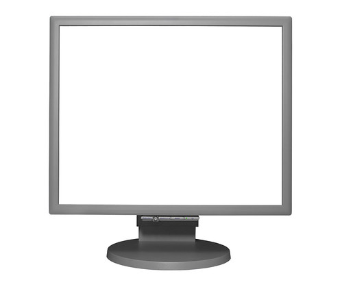 Isolated Light Grey LCD Computer Monitor with Clipping Path by Craig Jewell