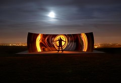 My spin (Alex Bamford) Tags: longexposure sculpture moon lightpainting reflection festival mirror brighton fullmoon moonlit torch moonlight kapoor anishkapoor anish gel southdowns concave moonlighting brightonfestival arsingabout explored interestingness188 i500 cantbeatit ccurve alexbamford thebigbambooly lightfight thtabackatcollegefeeling wwwalexbamfordcom