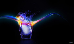 Ice On Fire (Yaniv Ben Simon) Tags: ice water glass fire design graphics yanivbensimon iceonfire wwwybscoil