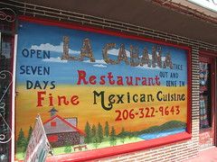 La Cabaña recently repainted their cheery sign. Photo by Wendi