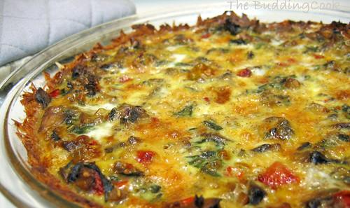 Mushroom & spinach quiche 1