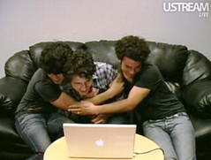 Cutest brothers in the world. (Selenademi920) Tags: 2 love me apple lines museum night computer skinny fly vines hug chat kevin with time brothers live cd web nick may joe trying couch jeans paranoid jonas 28th brotherly june16th ustream selenademi920