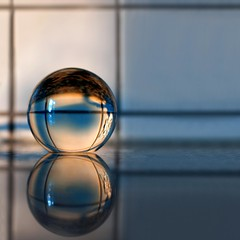 """Looking into a glass-ball"" (helmet13) Tags: sunlight reflection tile raw minimalist studies gettyimages crystalball d90 100faves heartaward world100f"