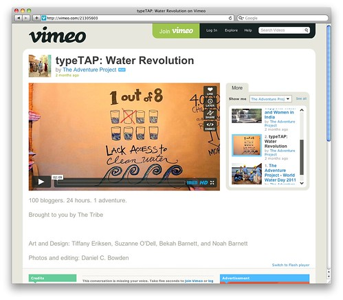 typeTAP- Water Revolution on Vimeo