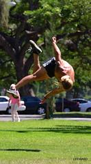 Fly Three (Ctuna8162) Tags: man hawaii athletic jump waikiki honolulu workout